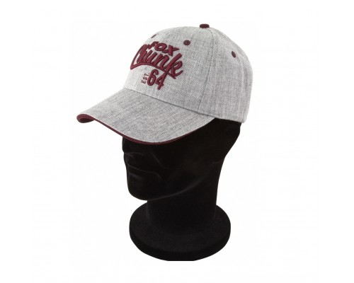 Grey/Burgundy Twill Baseball Cap  бейсболка