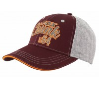 Grey/Burgundy/Orange Baseball Cap бейсболка