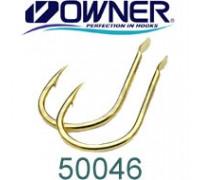 Одинарный крючок OWNER 50046-4, лопатка, золотой, кован., 10 шт./уп.