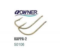 Одинарный крючок OWNER 50106-8, лопатка, 17 шт./уп.