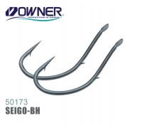 Одинарный крючок OWNER 50173-8, лопатка, черный, кован., засечка на цевье, 16шт./уп.