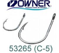 Одинарный крючок OWNER 53265-04 С-5, колечко, черный BC, 10 шт.уп.