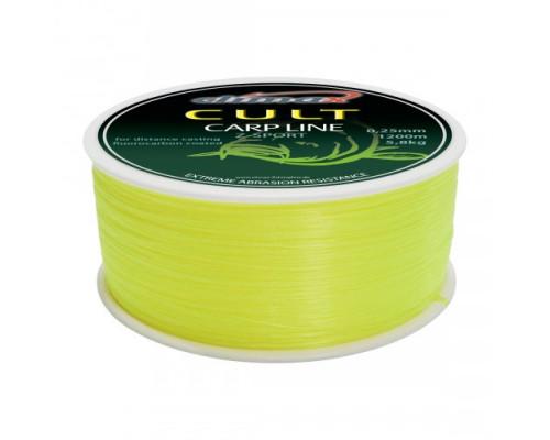 Леска CLIMAX CULT CARP LINE Z-SPORT fluo-yellow 0,25mm 5,8kg (1200m)