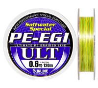 Плетенный шнур SUNLINE PE-EGI ULT 10Ib # 0.6 0,128mm 120m 4.5kg