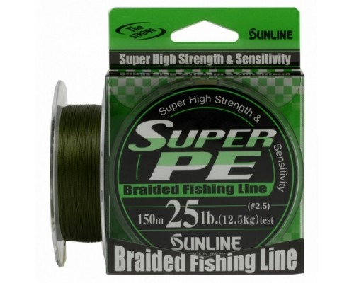 Плетенный шнур SUNLINE SUPER PE    8Ib 0.148mm 150m 4kg Dark Green