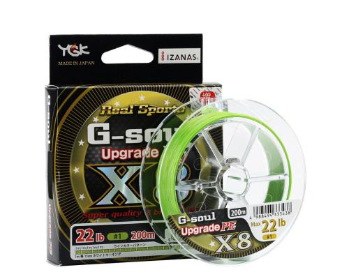 Плетеный шнур G-soul X8 UPGRADE 200m 25Lb 1.2 зеленый