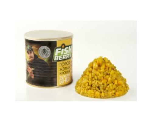 """Гороховая крошка """"FISHBERRY"""" жёлтая (ваниль) 430 мл."""
