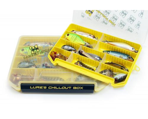 Коробка для приманок Pontoon21 Lures Chillout Box 255x190x28, желт./верх прозр.
