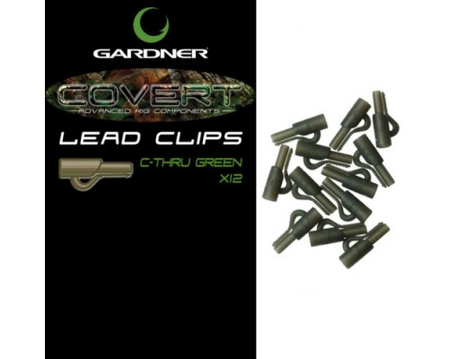 Covert Lead Clips C-Thru Green  безопасная клипса