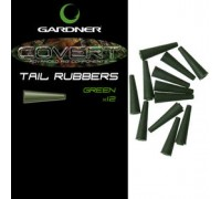 GARDNER  Конус для клипсы COVERT TAIL RUBBERS C-THRU GREEN (12шт) CTRCG