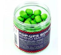 Pop-up, 12 mm, roll & dumbells, 70 грамм, GLM (зеленогубый моллюск), зелёный флюро