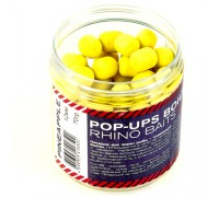 Pop-up, 12 mm, roll & dumbells, 70 грамм, Pineapple (ананас), жёлтый флюро