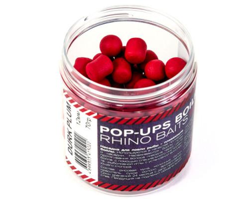 Pop-up, 12 mm, roll & dumbells, 70 грамм, Plum (слива), тёмно красный
