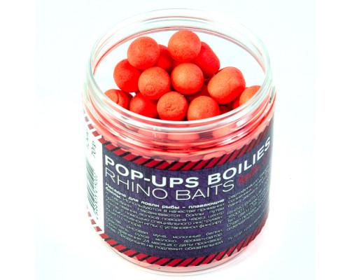 Pop-up, 12 mm, roll & dumbells, 70 грамм, Strawberry  (клубника), красный флюро