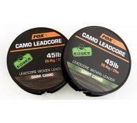 EDGES Camo Leadcore - Dark Camo 45lb - 25m противозакручиватель