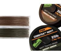 EDGES™ Coretex™ Matt - Weedy Green 25lb - 20m  поводковый материал в оплетке
