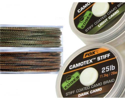 EDGES™ Camotex™ Stiff - Dark Stiff 20lb - 20m  поводковый материал в жесткой оплетке