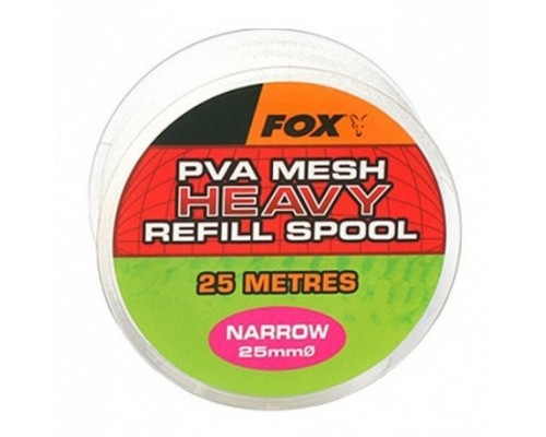 Narrow 10m/25mm Refill Spool Heavy Mesh PVA медленно растворимая сетка, запаска