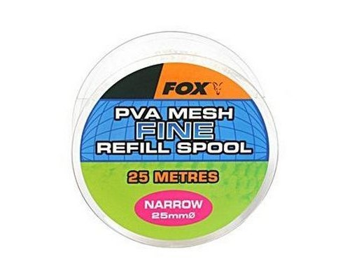 Narrow 10m/25mm Refill Spool Fine Mesh PVA быстро растворимая сетка, запаска