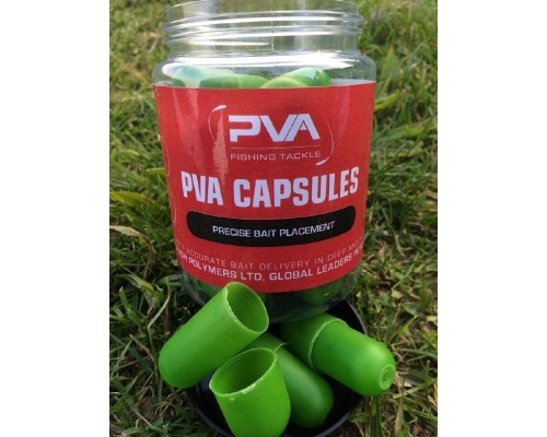 10 PVA Capsules Natural Salty Green   PVA капсулы 10шт