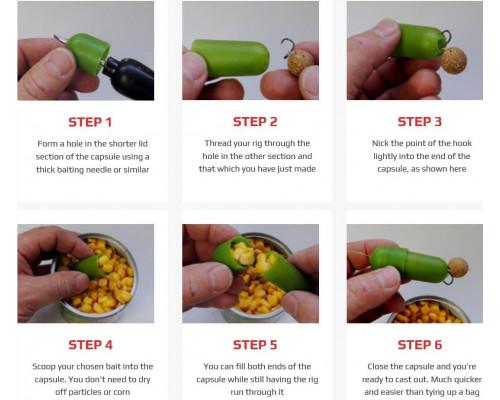 12 Capsules + Capsule Pod Natural Salty Green   PVA капсулы с тубусом