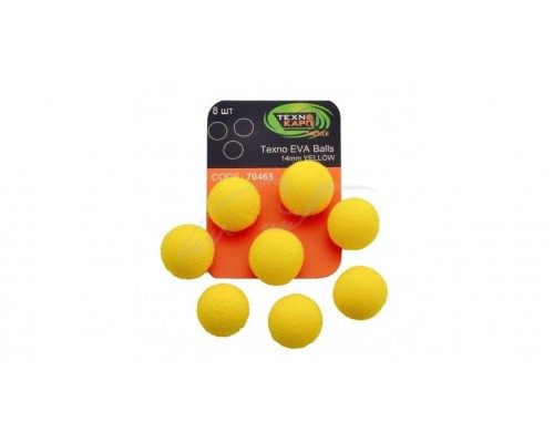 Texno EVA Balls 14mm yellow уп/8шт