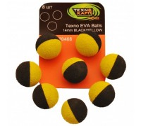 Texno EVA Balls 14mm black/yellow уп/8шт