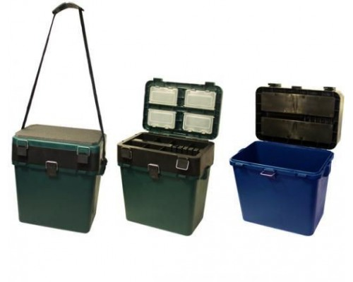 Ящик зимний ТОНАР Helios пластиковый с мягким сиденьем, t от -40 до +50,нагрузка 135кг, (19л)